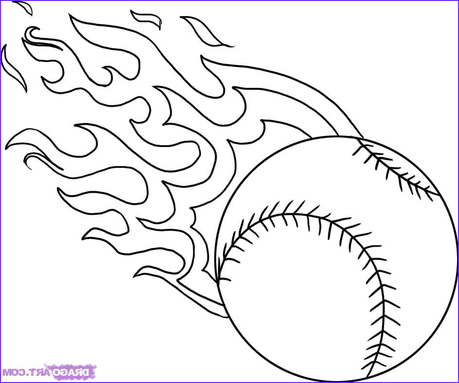 baseball ball flames cool coloring pages coloring pages for kids coloring pages for boys printable coloring pages