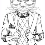 """Cool Coloring Pages For Adults Elegant Stock A Cool Cat From """"smooth Operator"""""""