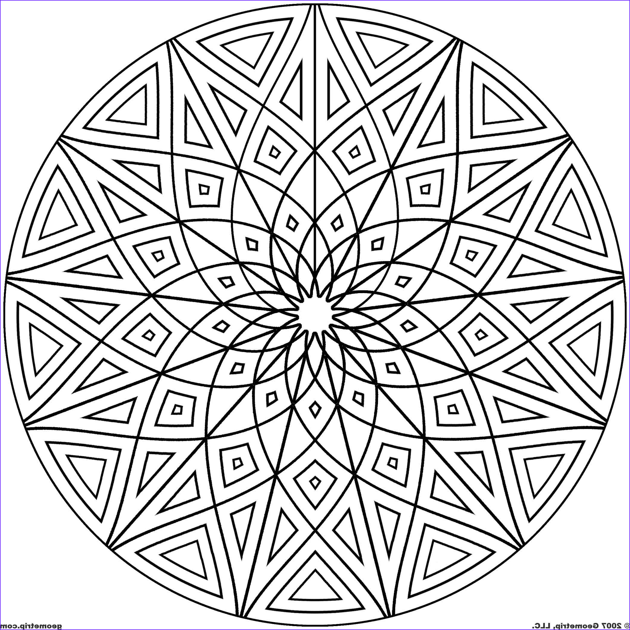 Cool Printable Coloring Pages for Adults Elegant Gallery Cool Geometric Designs Coloring Page for Free