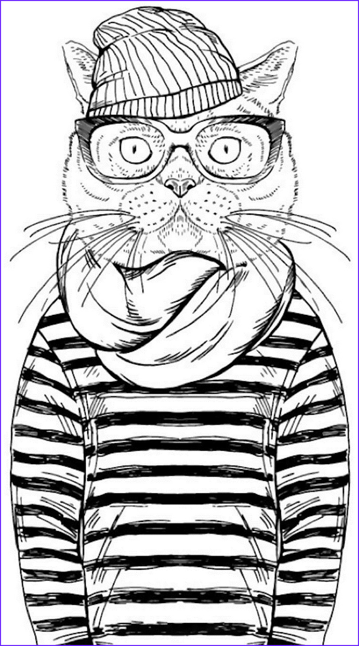 hipster coloring pages for adults