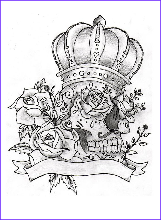 Cool Skull Coloring Pages Beautiful Image Sugar Skull Tattoo Ink Pinterest