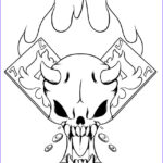 Cool Skull Coloring Pages Beautiful Photos How To Draw A Gambler Skull Step By Step Skulls Pop
