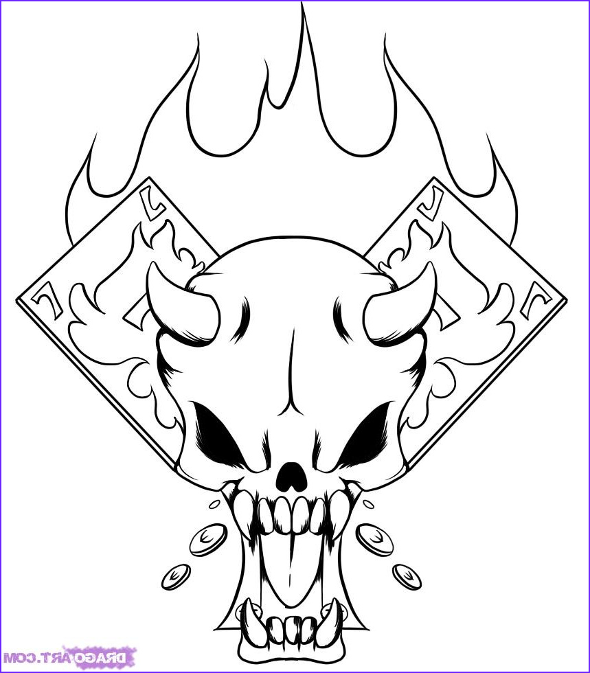 how to draw a r skull