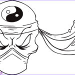 Cool Skull Coloring Pages Beautiful Photos Step 7 How To Draw A Ninja Skull