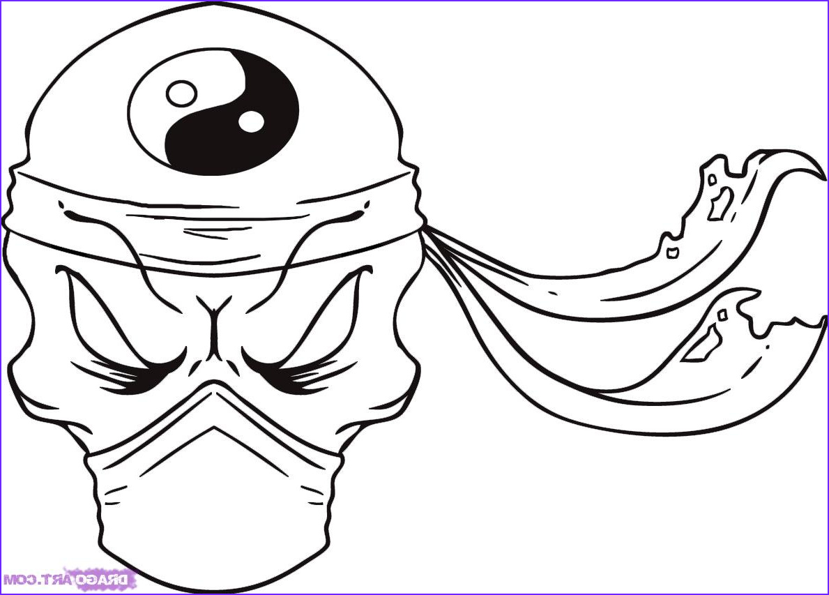 how to draw a ninja skull step 7