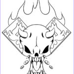 Cool Skull Coloring Pages Beautiful Stock Simple Skulls And Roses Drawings Sketch Coloring Page
