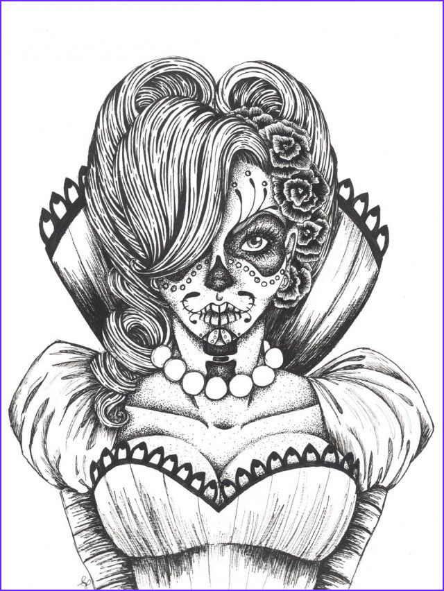 Cool Skull Coloring Pages Beautiful Stock This is Girl Sugar Skull Coloring Pages American Things