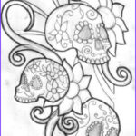 Cool Skull Coloring Pages Best Of Collection Funny Photos Skull Tattoo Designs S