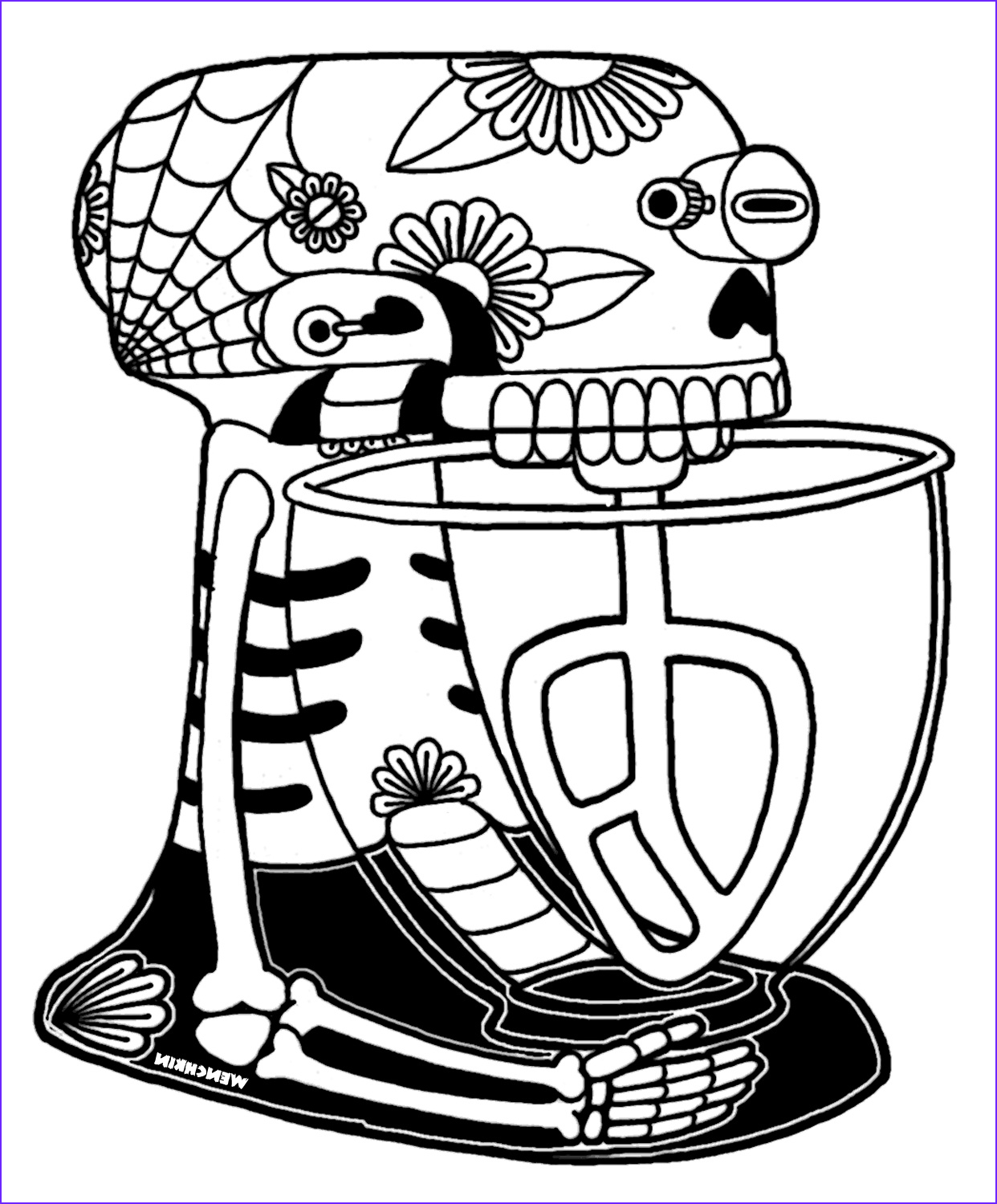 wenchkins coloring pages mixer