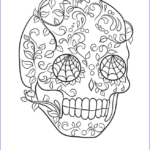 Cool Skull Coloring Pages Cool Photography Sugar Skull Very Cool Easy Calavera Coloring Pages Printable