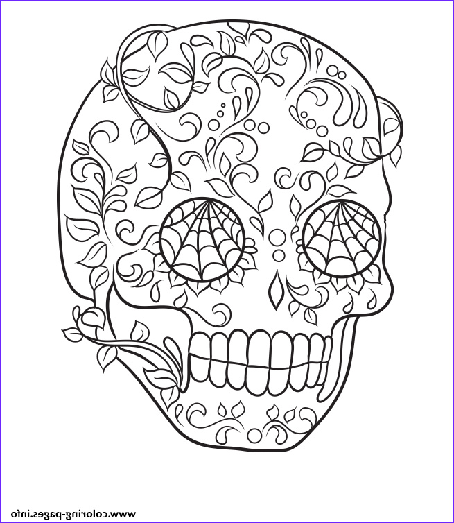 sugar skull very cool easy calavera printable coloring pages book