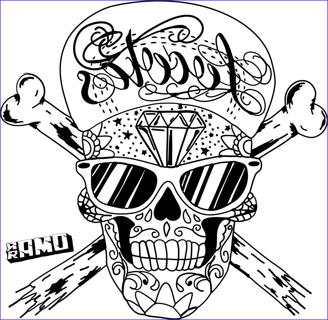 Cool Skull Coloring Pages Inspirational Gallery Sugar Skull by Omar 666 On Deviantart