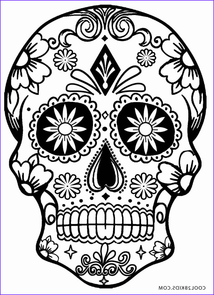 Cool Skull Coloring Pages Inspirational Image Printable Skulls Coloring Pages for Kids