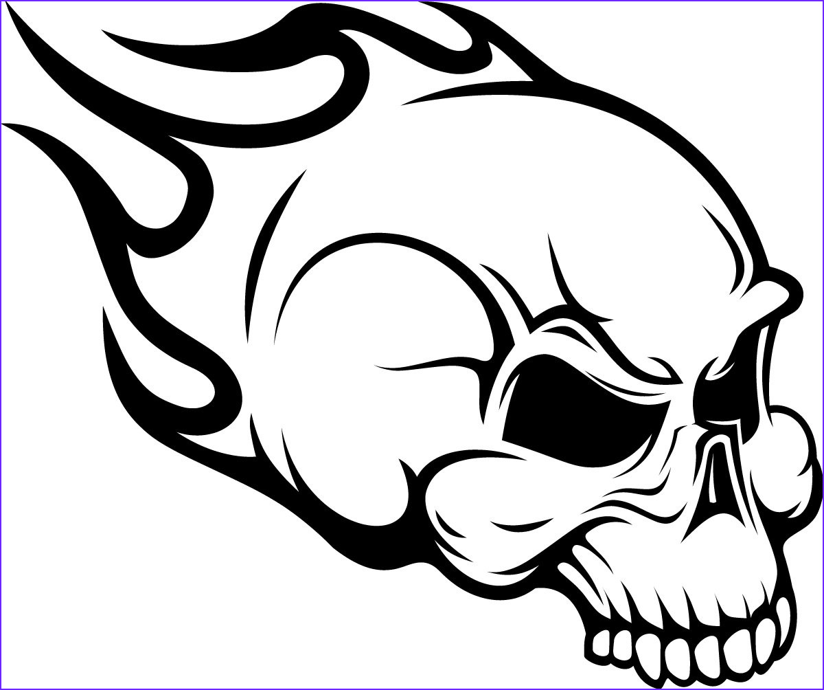 Cool Skull Coloring Pages Inspirational Photos Flaming Skull Head Wall Art Sticker Wall Decals Transfers