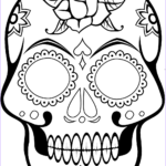 Cool Skull Coloring Pages Luxury Image Cool Sugar Skull 2 1 Calavera Coloring Pages Printable