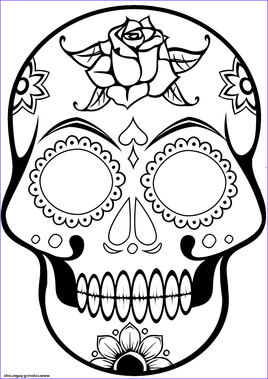 cool sugar skull 2 1 calavera printable coloring pages book