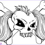 Cool Skull Coloring Pages Luxury Photos How To Draw A Girly Skull Step By Step Skulls Pop
