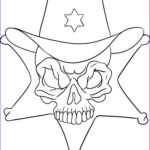 Cool Skull Coloring Pages New Gallery How To Draw A Sheriff Skull Step By Step Skulls Pop