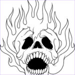 Cool Skull Coloring Pages New Image Cool Flaming Skull Coloring Pages To Print