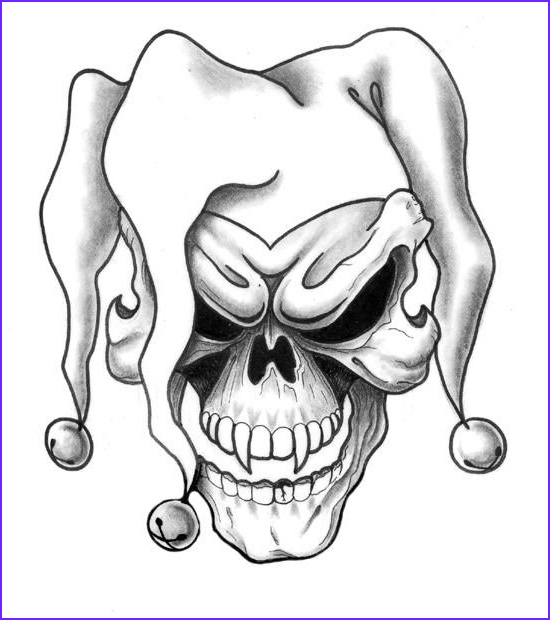 Cool Skull Coloring Pages New Images Large Free Printable Tattoo Designs