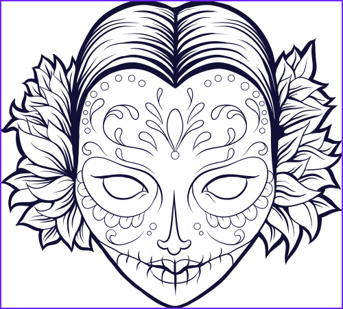 cool skull design coloring pages