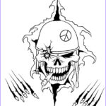Cool Skull Coloring Pages Unique Images How To Draw A War Skull Step By Step Skulls Pop Culture