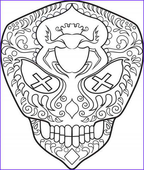 Cool Skull Coloring Pages Unique Images Pin by Laura Terjenian Wilcox On Sugar Skulls