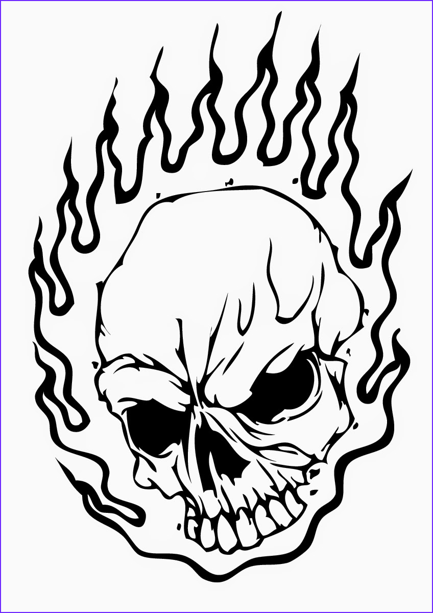 cool skull drawing