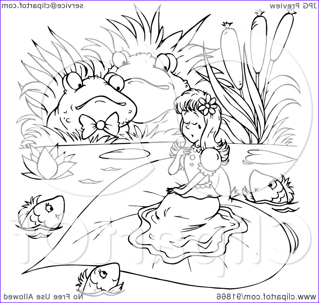 black and white thumbelina coloring page outline 3
