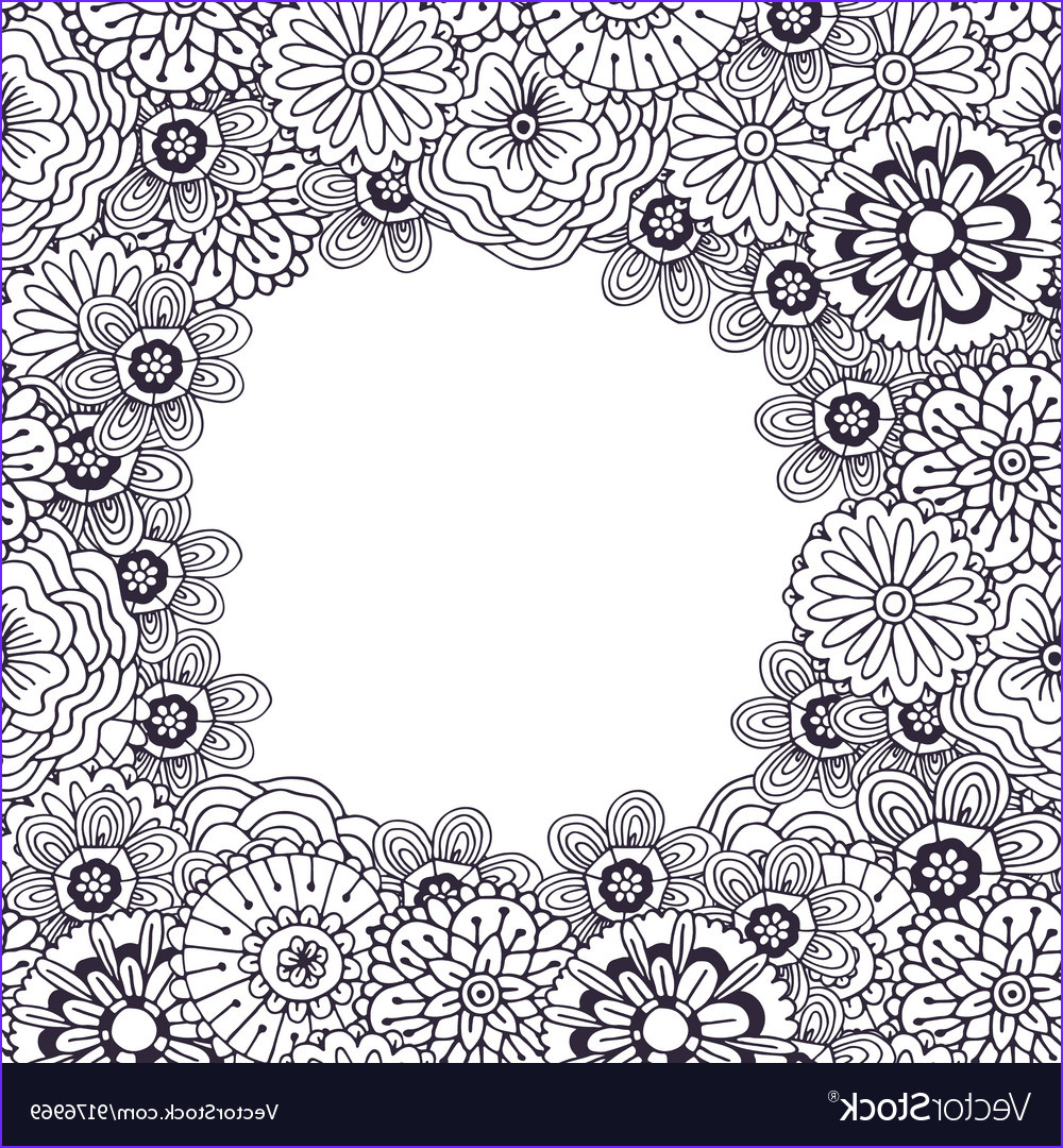 Copyright Free Coloring Pages Cool Image Adult Coloring Book Page Frame with Royalty Free Vector