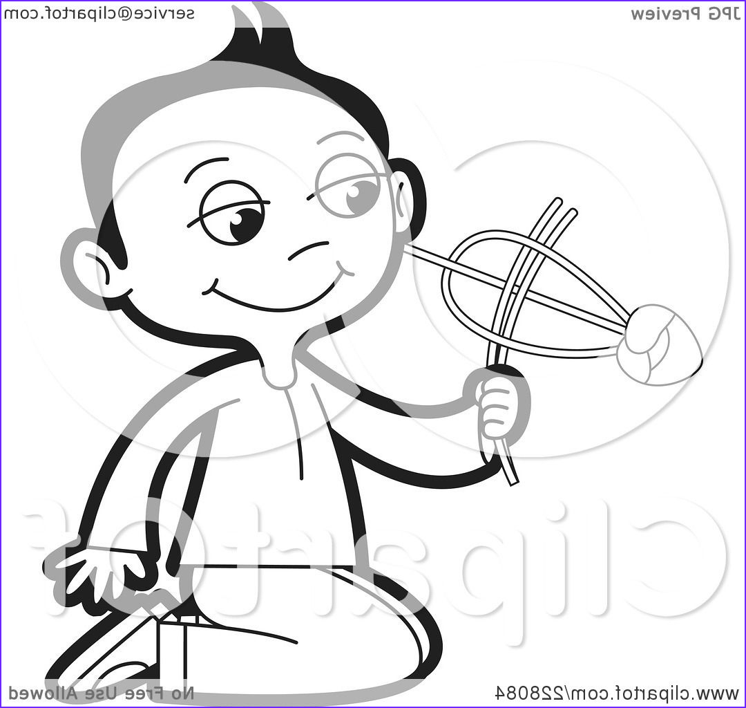 coloring page outline of a sinhala boy playing with a toy