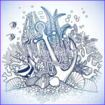 Coral Reef Coloring Page Beautiful Photos Anchor And Coral Reef Vector Art Thinkstock
