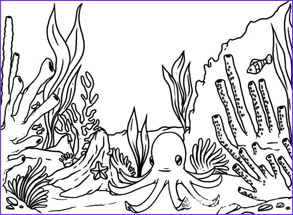 Coral Reef Coloring Pages Beautiful Stock Free Line Coloring Page to Download & Print Part 2