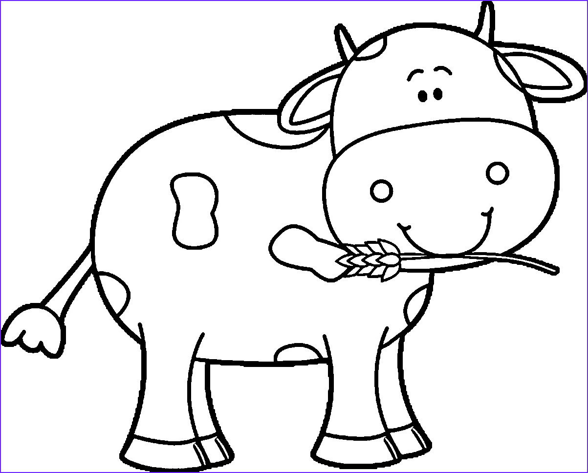 Cow Coloring Pages Beautiful Photos Cow Coloring Pages Kidsuki