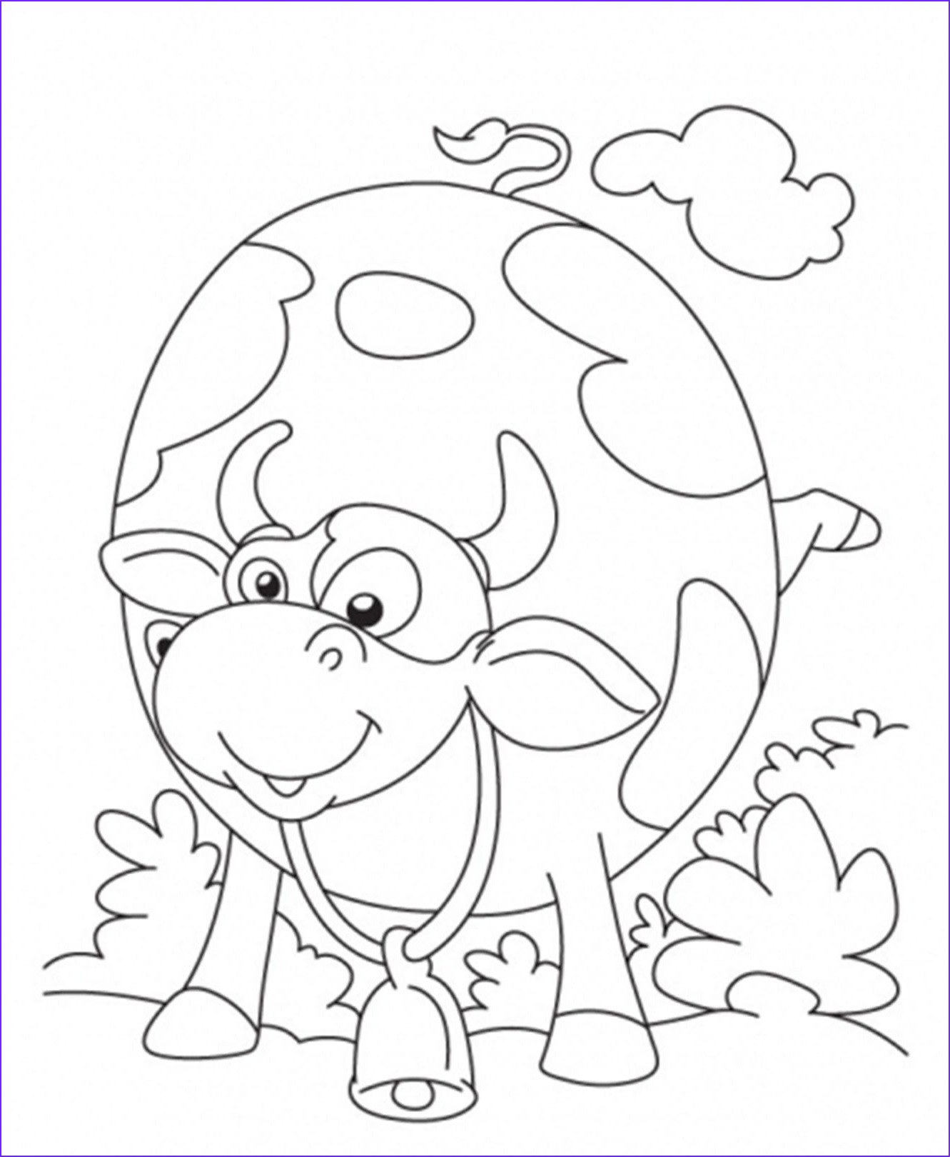 """Cow Coloring Pages Beautiful Photos Icolor """" Little Kids Pages"""" I Love to Color with the Kids"""