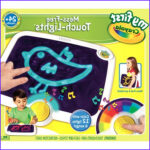 Crayola Electronic Coloring Tablet New Stock My First Crayola Mess Free Touch Lights Walmart