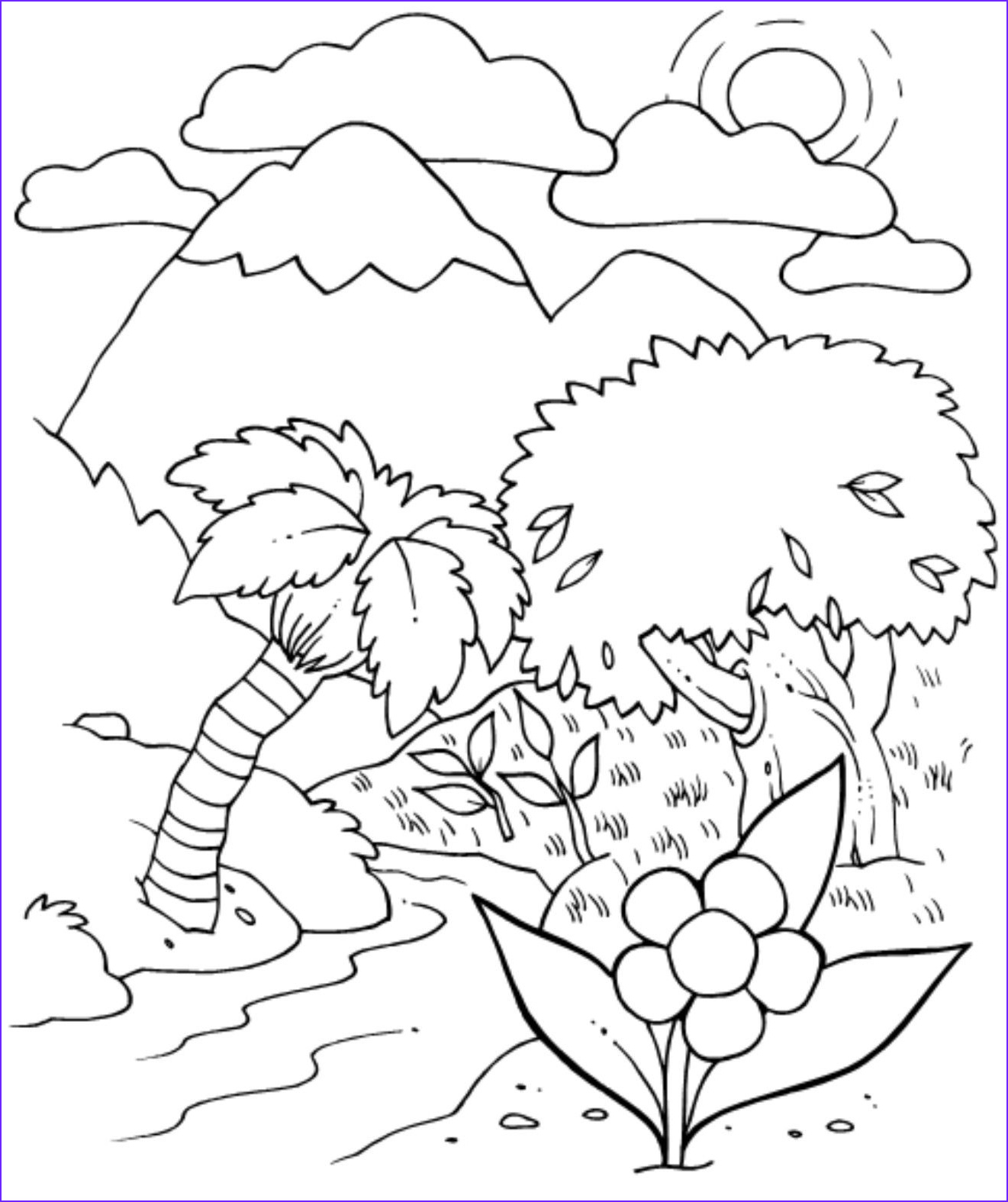 Creation Coloring Sheets Awesome Gallery Creation Coloring Page Sundayschoolist