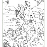 Creation Coloring Sheets Beautiful Images Adam And Eve Coloring Pages To Print