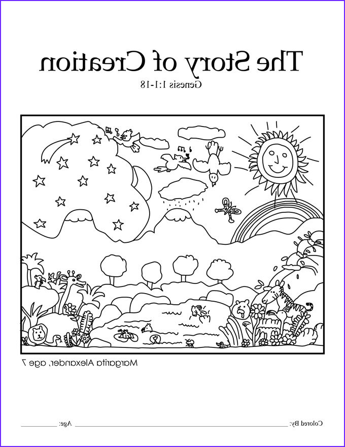 Creation Coloring Sheets Beautiful Stock Creation Coloring Pages for Preschoolers