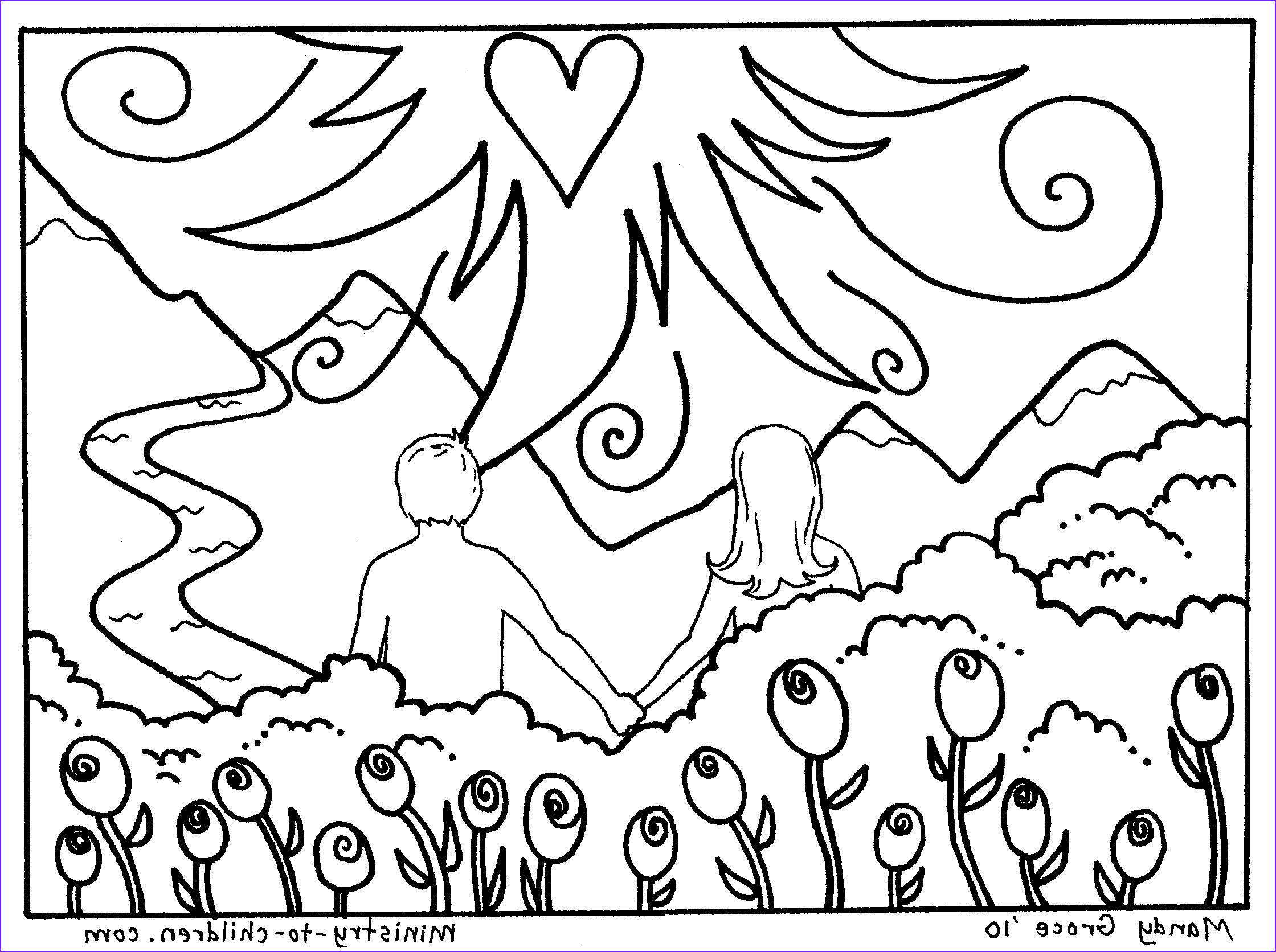 god rested on seventh day coloring page