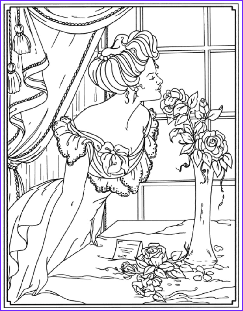 Creative Haven Coloring Pages New Image Creative Haven American Beauties Coloring Book Dover