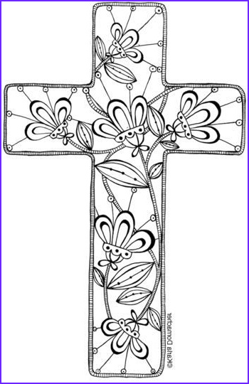 Cross Coloring Pages Printable Beautiful Photos Floral Cross to Print and Colour then Use as You Want