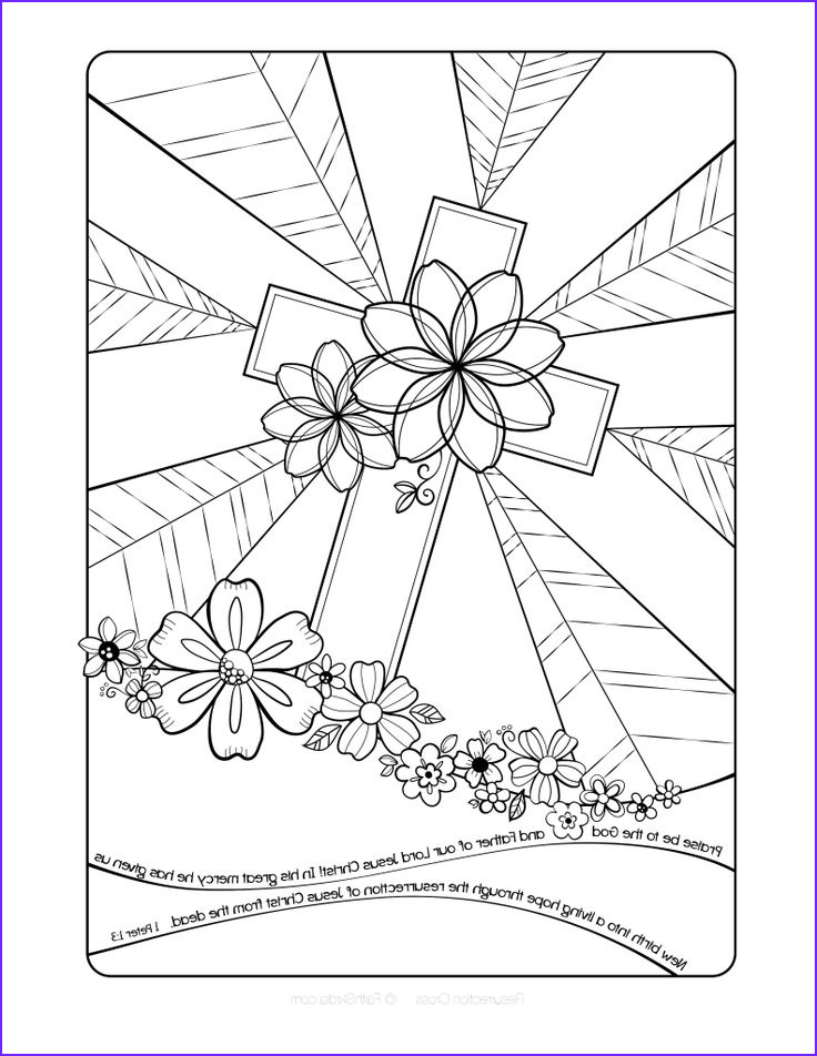 Cross Coloring Pages Printable Beautiful Photos Free Easter Cross Adult Coloring Page