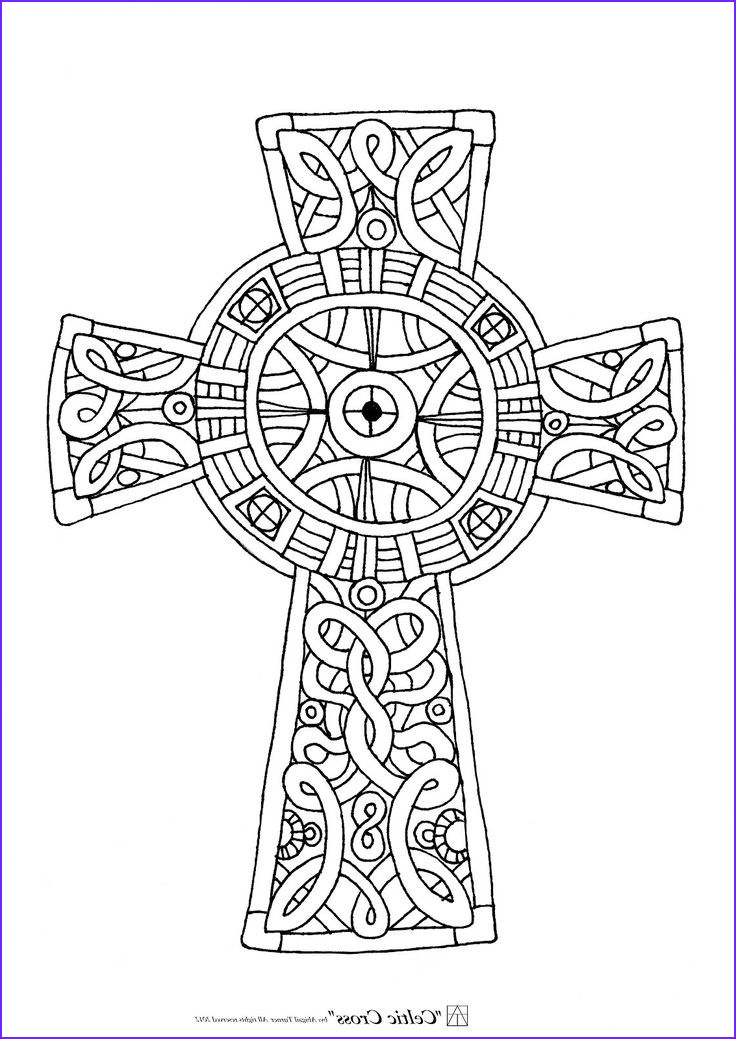 Crosses Coloring Pages Beautiful Collection Free Printable Celtic Cross Coloring Pages