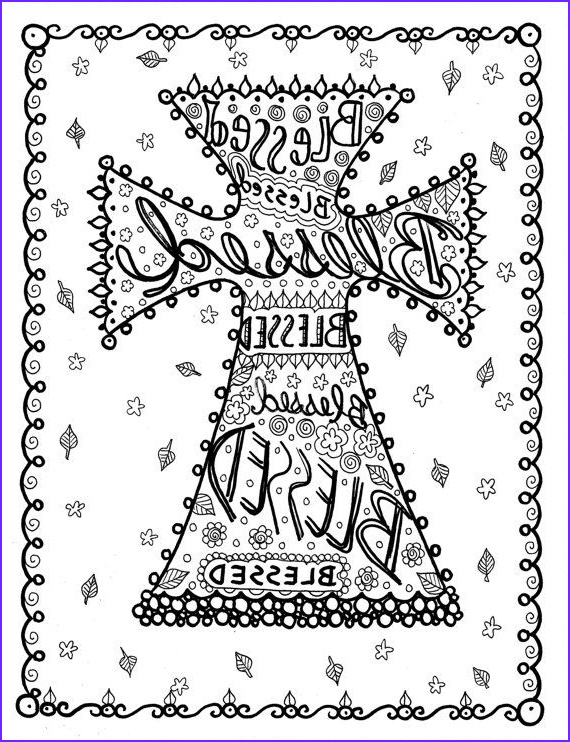 Crosses Coloring Pages Cool Collection Coloring Book Of Crosses Christian Art to Color and Create