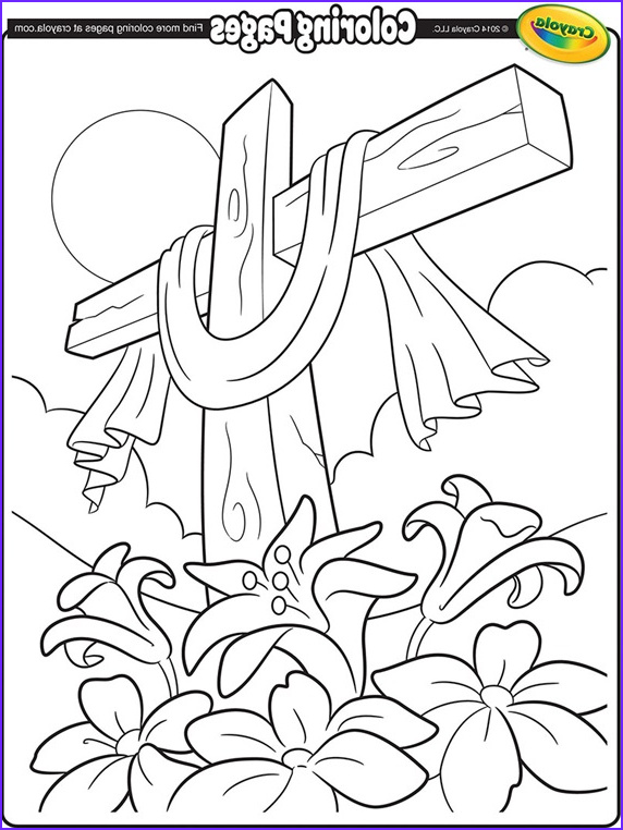 easter cross coloring page