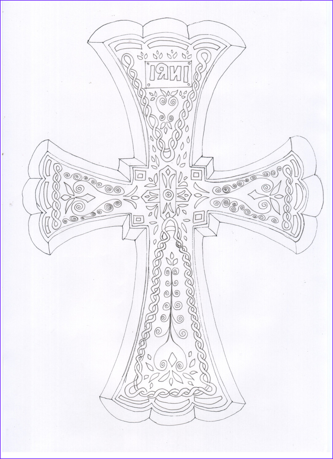 cross adult coloring sheet coloring page