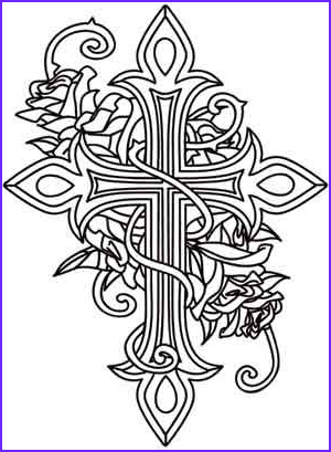 Crosses Coloring Pages New Images Crosses Urban Threads and Rose Design On Pinterest