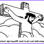 Crucifixion Coloring Pages Beautiful Photos Jesus Is Crucified