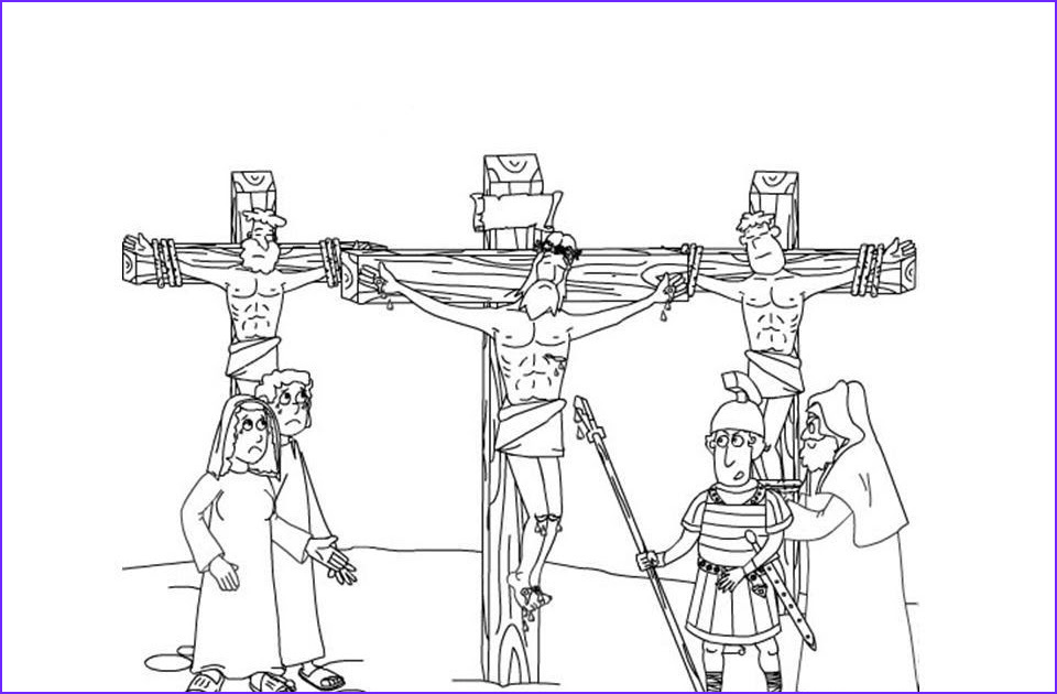 illustration of crucifixion coloring